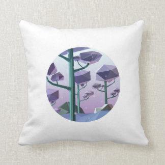 Violet vinter pillow