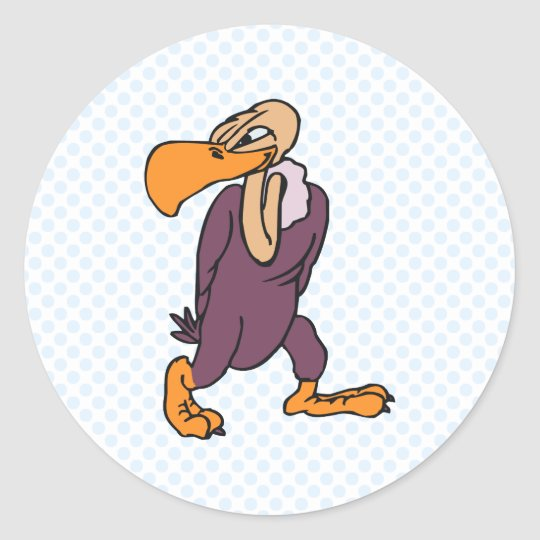 Violet Vulture Classic Round Sticker