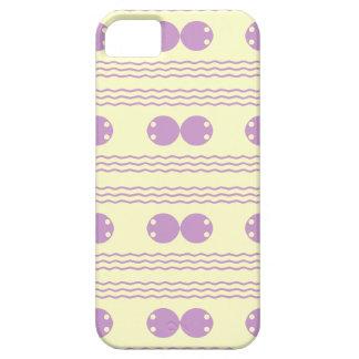 violet Wave and polka dots design Case