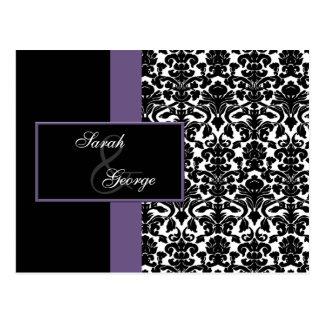violet Wedding rsvp card