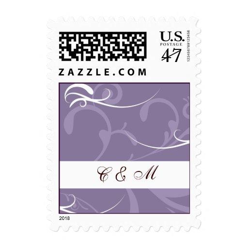 violet Wedding stamps
