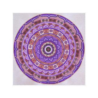 Violet wheel Mandala Canvas Print