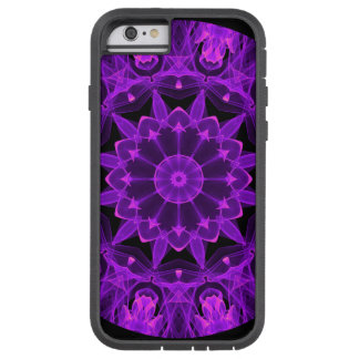 Violet Wheel of Fire Mandala, Abstract Flames iPhone 6 Case