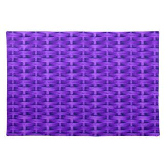 Violet wicker graphic design cloth placemat