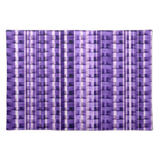 Violet wicker stripes graphic design cloth placemat