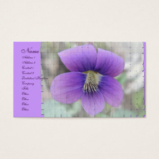 Violet Wildflower Coordinating Items Business Card