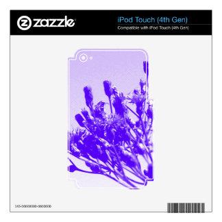 Violet Wildflower iPod Touch 4G Decals