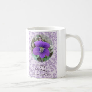 Violet Wildflower Mother Birthday Items Coffee Mug