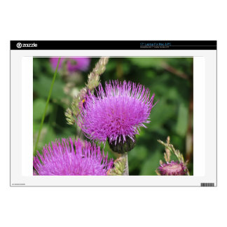 """Violet wildflowers on the meadow 17"""" laptop decals"""