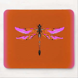 Violet Winged Dragonfly Caramel gifts by Sharles Mouse Pad