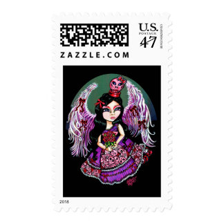 Violet Wings, Get You Nowhere Gothic Angel Stamp