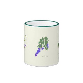 Violet, Wisteria, Clematis on a Mug
