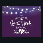 "Violet with lights Guestbook sign<br><div class=""desc"">Violet with lights,  birthday party,  retirement years</div>"