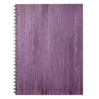 Violet Wood Texture Pattern. Artistic Design Spiral Notebook