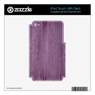 Violet Wood Texture Pattern. Artistic Design iPod Touch 4G Decal