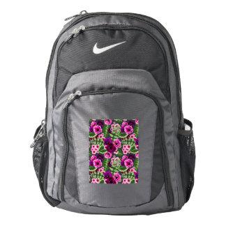 Violet X Pink Flowers Pattern Backpack