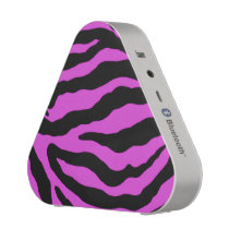 Violet Zebra Stripe Animal Print Bluetooth Speaker