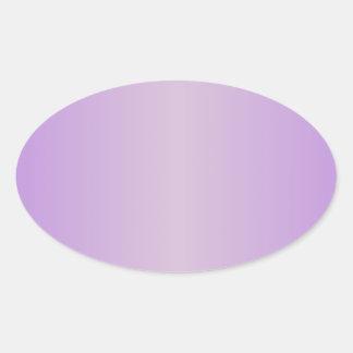 Violeta 1 - Pendiente del cardo y de la lavanda Pegatina Ovalada