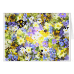 Violeta abstracta del amarillo de la flor de la pr felicitaciones
