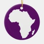 Violeta africana África audaz Adorno Navideño Redondo De Cerámica