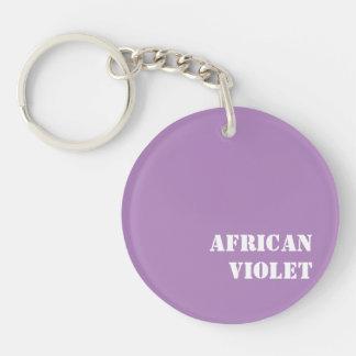 Violeta africana llavero