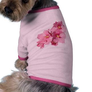 Violeta africana camisa de perrito