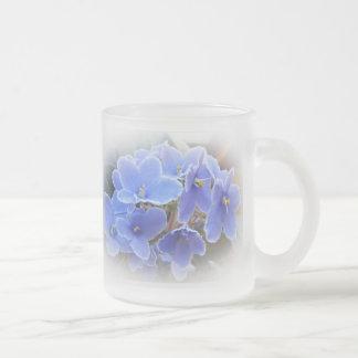 Violeta africana taza cristal mate
