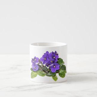 Violeta africana taza espresso