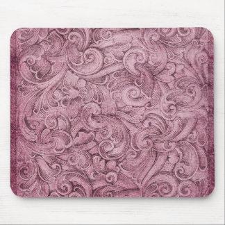 Violeta de color de malva de la textura de la alfombrillas de raton