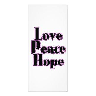 violeta de la esperanza de la paz del amor lona personalizada