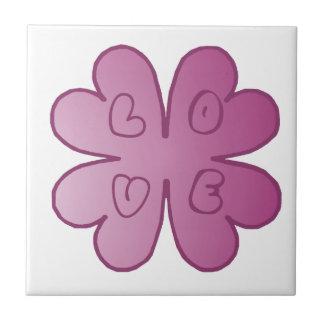 Violeta de la flor del AMOR Azulejos Ceramicos