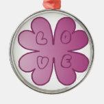 Violeta de la flor del AMOR Ornamentos De Reyes Magos