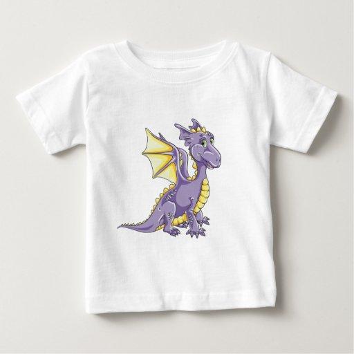 Violeta del dragón playera de bebé