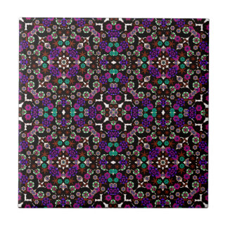 violeta del estampado de flores azulejos cerámicos