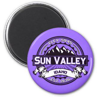 Violeta del logotipo de Sun Valley Imán Redondo 5 Cm