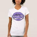 Violeta del logotipo del color de Jackson Hole Camiseta