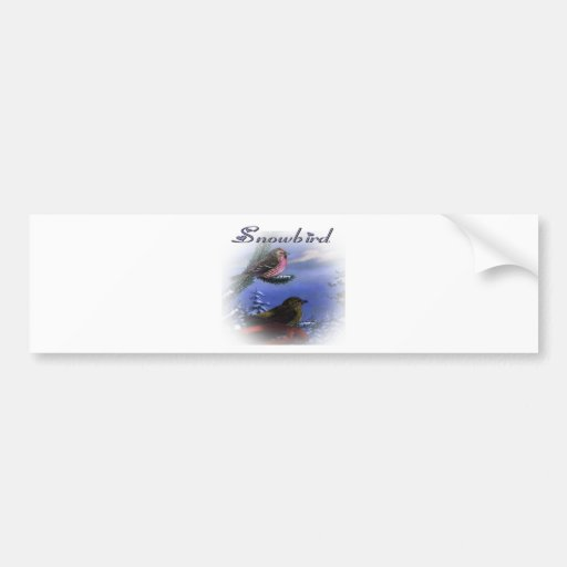 Violeta del Snowbird Pegatina Para Auto