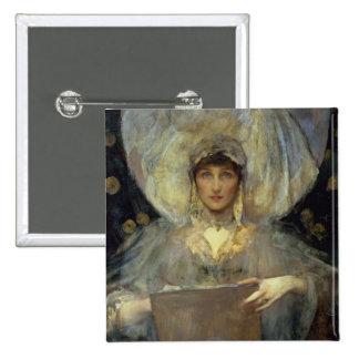 Violeta, duquesa de Rutland Pin Cuadrada 5 Cm