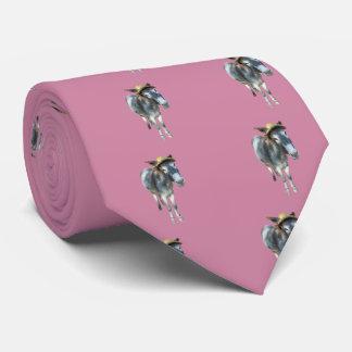 Violeta el burro en gorra de paja con las flores corbata