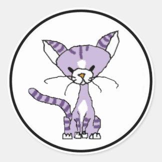 Violeta el pegatina del gato (resuelva maúlla)