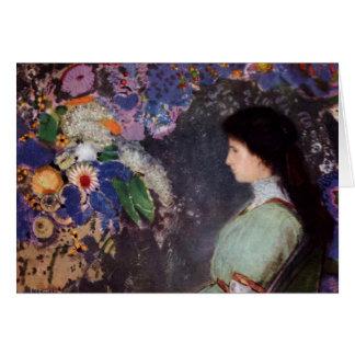 Violeta en flores tarjeta de felicitación