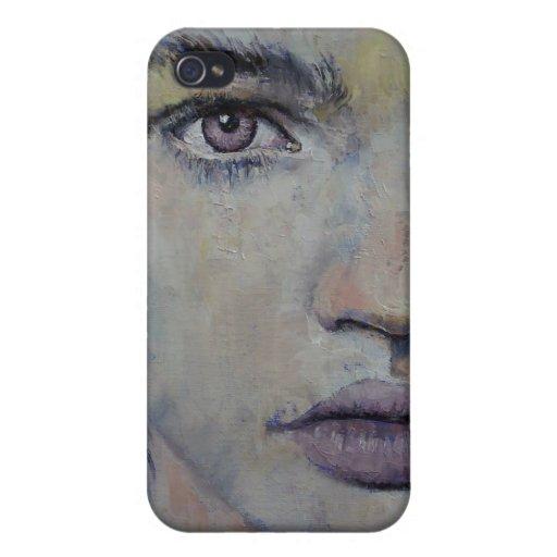 Violeta gótica iPhone 4 funda