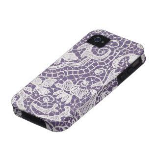 Violeta hecha a mano del cordón vibe iPhone 4 carcasa