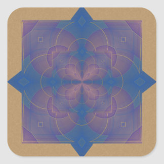 Violeta Kaleidoscope Mandala Square Sticker