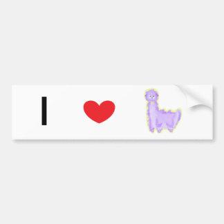 Violeta la alpaca pegatina para auto