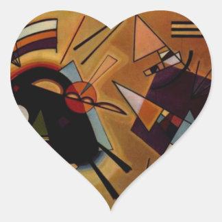 Violeta negra de Kandinsky Pegatina En Forma De Corazón
