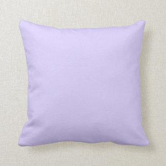 Violeta pálida de la lavanda cojín