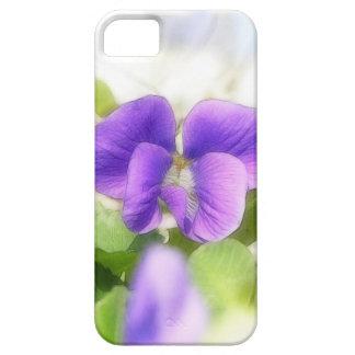 Violeta preciosa de la primavera iPhone 5 Case-Mate fundas