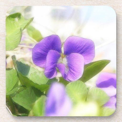 Violeta preciosa de la primavera posavaso