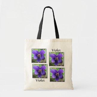 Violeta púrpura bolsas de mano
